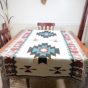 Other - NEW Boho Aztec Blanket Two Sided Print multicolor.